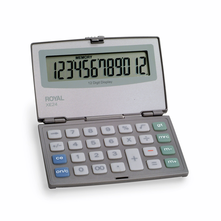 Royal XE24 12-Digit Midsize Compact With Last Digit Erase Calculator