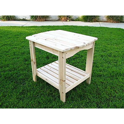 Shine Co 4103N 24 x 19 x 22 Inch Rectangular Side Table - Natural