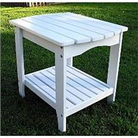 Shine Co 4103WT 24 x 19 x 22 Inch Rectangular Side Table - White