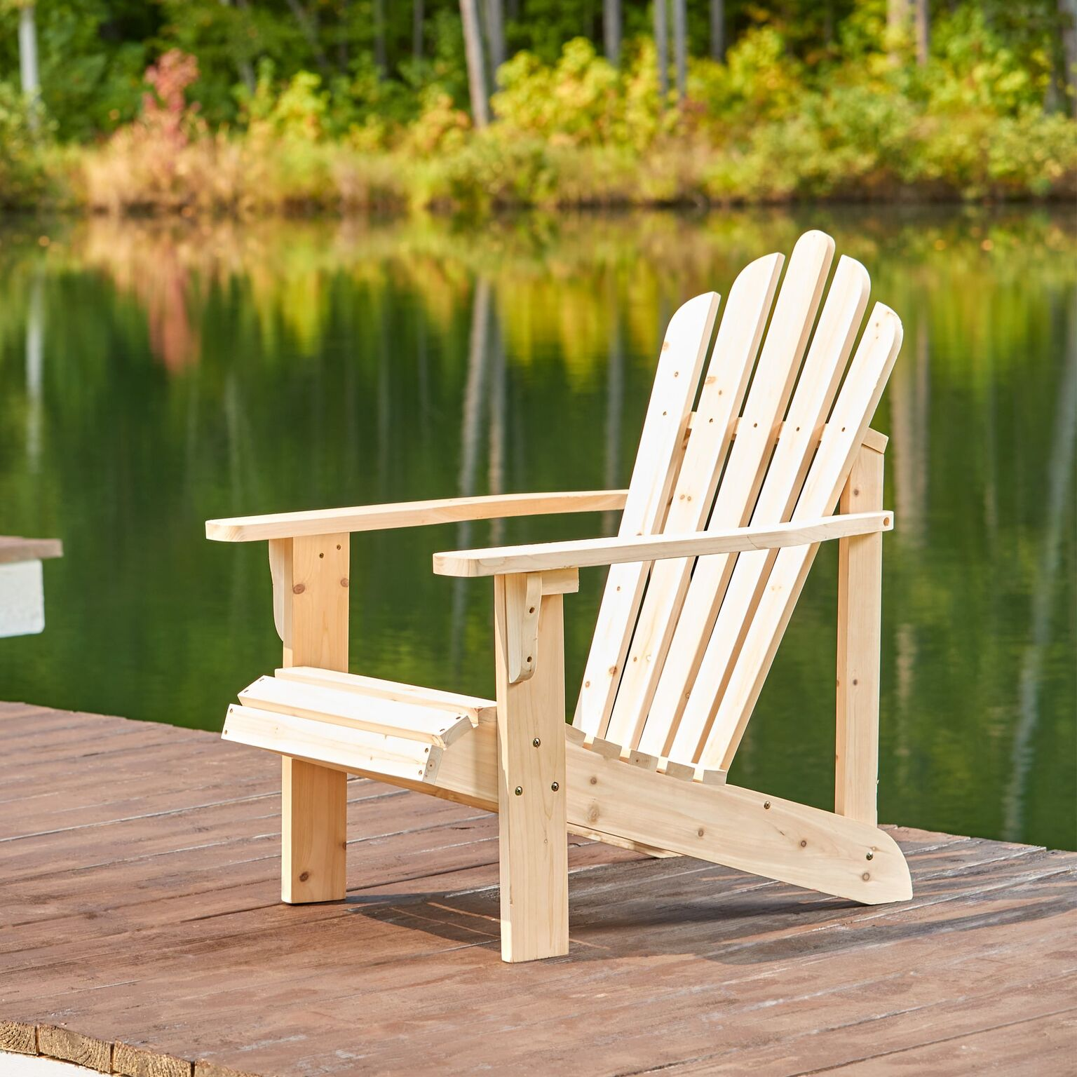Shine Co 4611N 28.25 x 35 x 36 Inch Westport Adirondack Chair - Standard - Natural