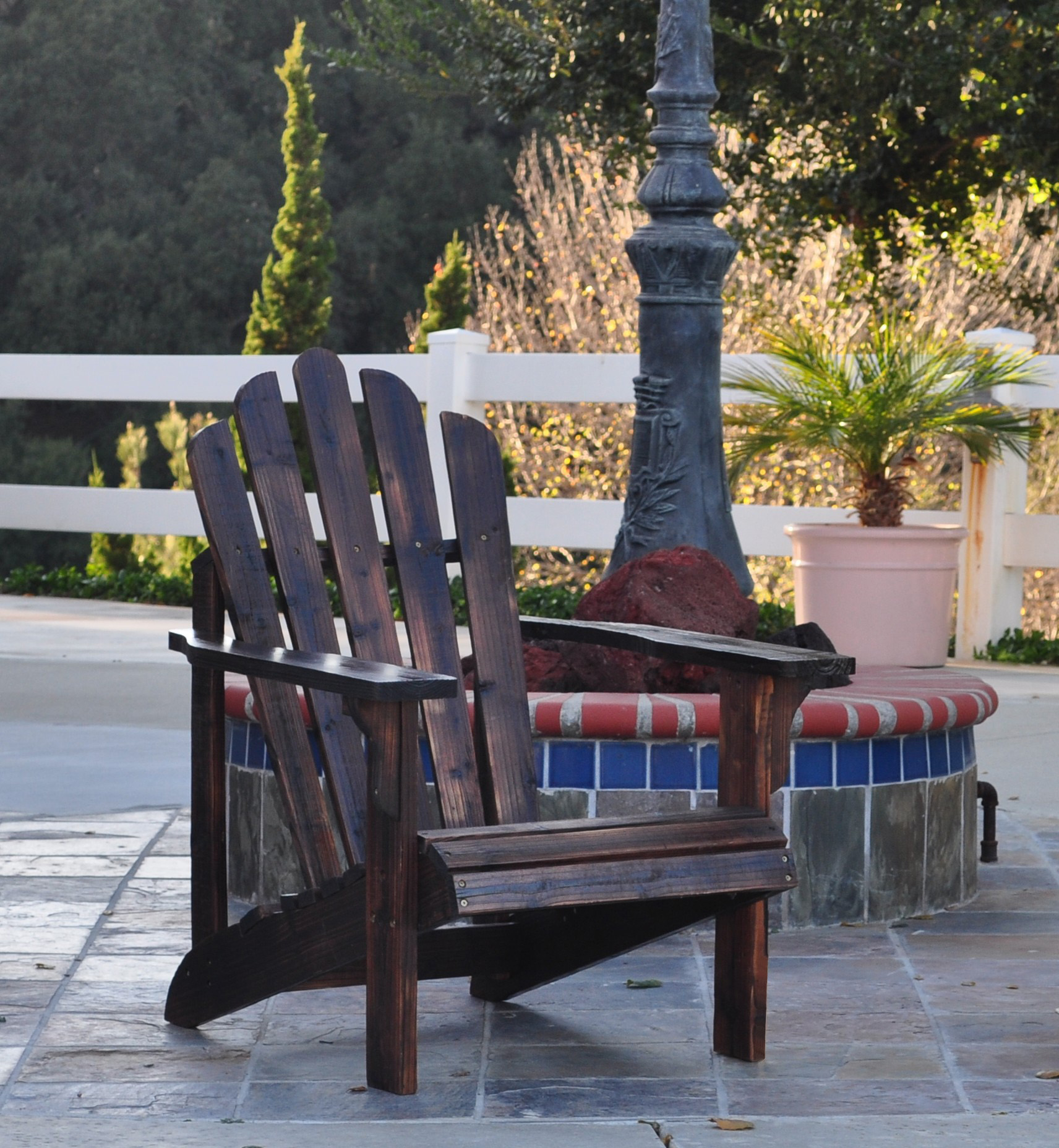 Shine Co 4611BB 28.25 x 35 x 36 Inch Westport Adirondack Chair - Standard - Burnt Brown