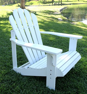 Shine Co 4611WT 28.25 x 35 x 36 Inch Westport Adirondack Chair - Standard - White