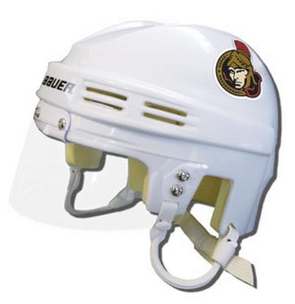 Official NHL Licensed Mini Player Helmets - Ottawa Senators - White