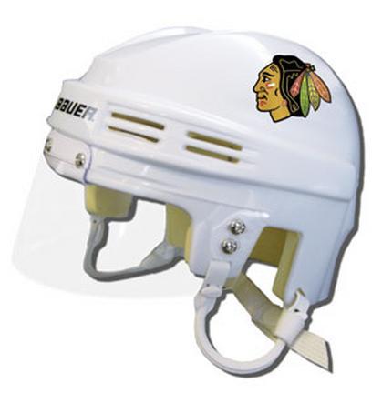 Official NHL Licensed Mini Player Helmets - Chicago Blackhawks - White