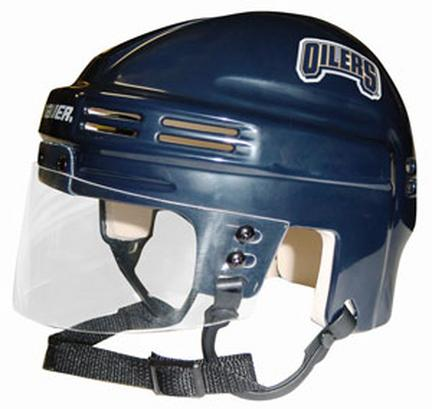 Official NHL Licensed Mini Player Helmets - Edmonton Oilers