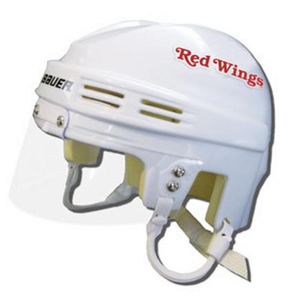 Official NHL Licensed Mini Player Helmets - Detroit Redwings - White