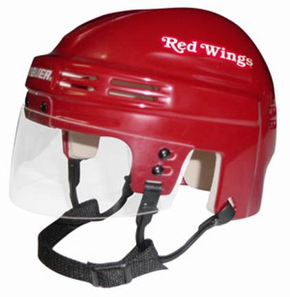 Official NHL Licensed Mini Player Helmets - Detroit Redwings