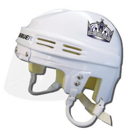 Official NHL Licensed Mini Player Helmets - LA Kings - White