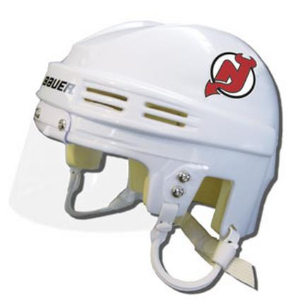 Official NHL Licensed Mini Player Helmets - NJ Devils - White