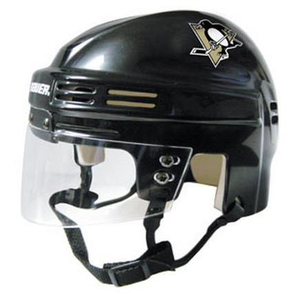 Official NHL Licensed Mini Player Helmets - Pittsburgh Penguins