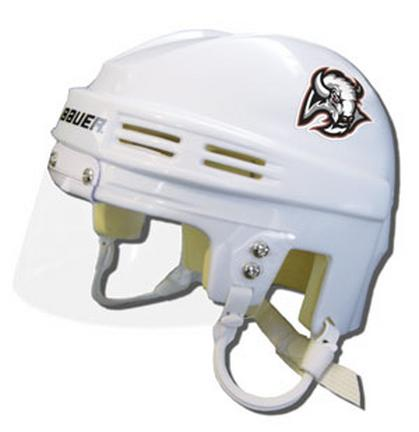 Official NHL Licensed Mini Player Helmets - Buffulo Sabres - White