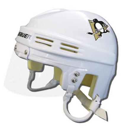 Official NHL Licensed Mini Player Helmets - Pittsburgh Penguins - White