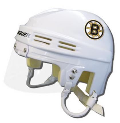 Official NHL Licensed Mini Player Helmets - Boston Bruins - White SPI083