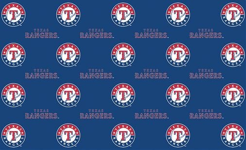 2 Packages of MLB Gift Wrap - Texas Rangers