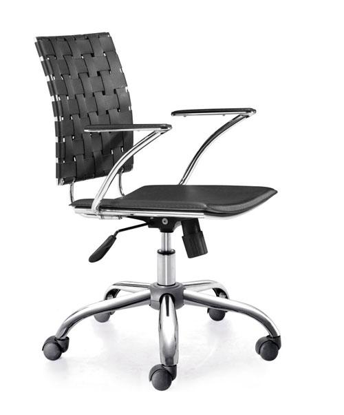 Zuo 205030 Criss Cross Office Chair - Black