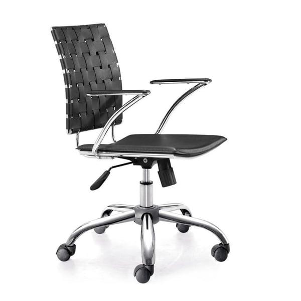 Zuo 205031 Criss Cross Office Chair - White