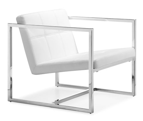 Zuo 500074 Carbon Collection Chair - White