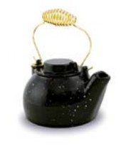 Minuteman T-16-BK 2.5 Quart Cast Iron Humidifying Kettle - Black