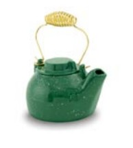 Minuteman T-16-GR 2.5 Quart Cast Iron Humidifying Kettle - Green