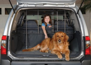 Precision Pet 1641-16401 Vehicle Barrier With Door - Hammertone