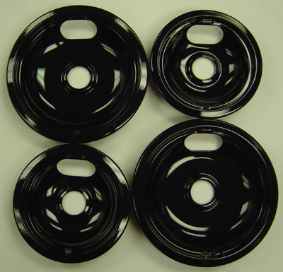 Range Kleen P10124XN Universal Porcelain Drip Pans - Four Pack