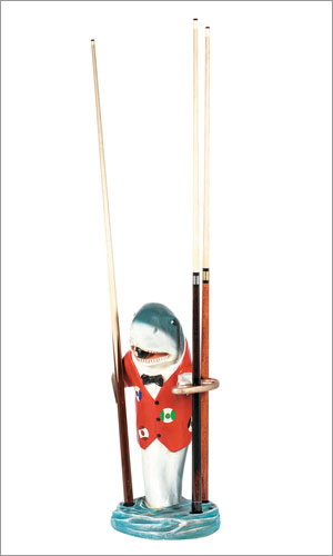 RAM Gameroom R303 28 Inch Shark - Red Pool Cue Rack
