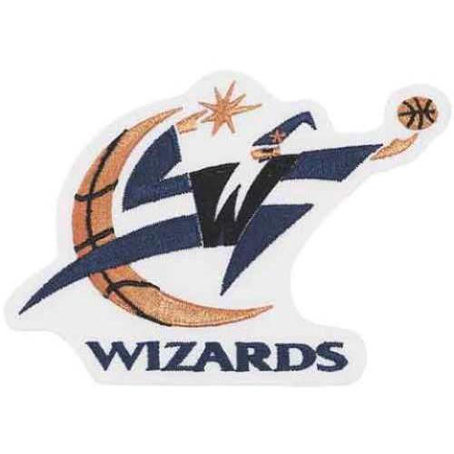 """National Emblem PATCHBKTWAS 3""""W x 0.25""""D NBA Logo Patch - Washington Wizards"""