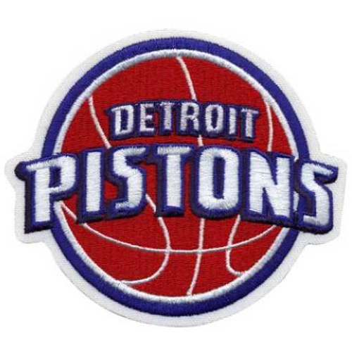 "National Emblem PATCHBKTDET 3""W x 0.25""D NBA Logo Patch - Detroit Pistons"