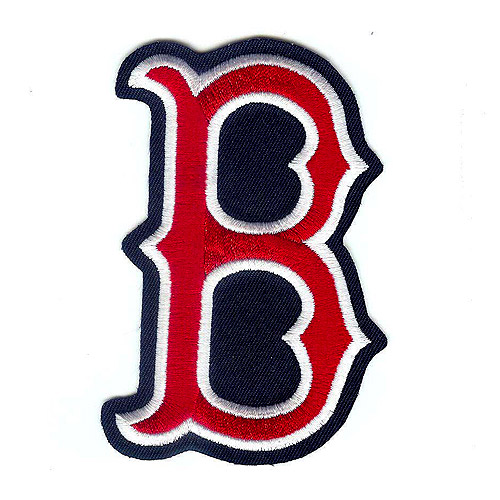 "National Emblem PATCHBBBOSB 3""W x 0.25""D MLB Logo Patch - Boston Red Sox B"