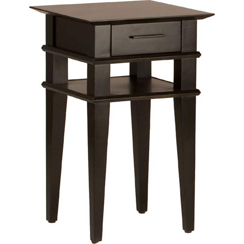 TLS by Design 1B-1011-L Kensington Place Large Accent Table - Translucent Black