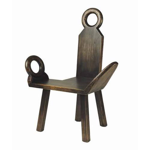 TLS by Design 14-1011-R Sausalito Bench - Accent Chair - Rubbed Black