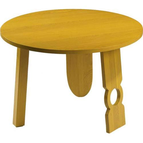 TLS by Design 14B-1052-R Sausalito Round Childrens Table - Rubbed Yellow