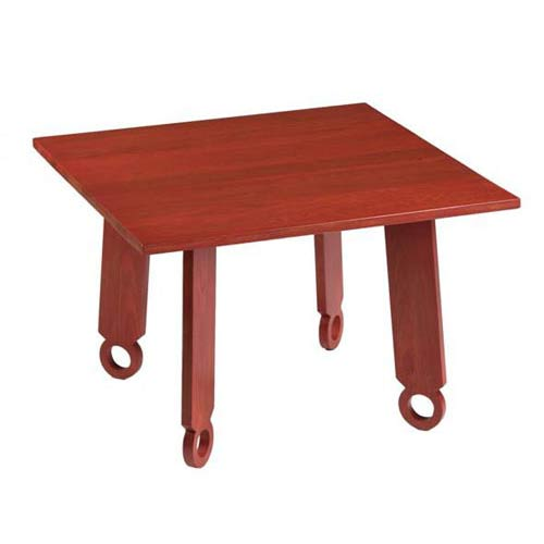 TLS by Design 14B-1053-R2 Sausalito Square Children's Table - Rubbed Red