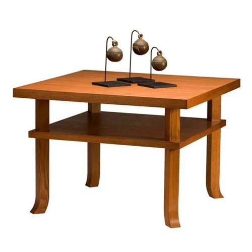 TLS by Design 15B-1012-D1 Sonoma Heights Rectangular End Table - Mahogany