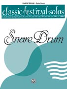 Alfred Publishing 00-EL03750 Classic Festival Solos - Snare Drum Volume I - Music Book