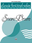 Alfred Publishing 00-EL03752 Classic Festival Solos - Snare Drum Volume I - Music Book