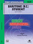 Alfred Publishing 00-BIC00161A Student Instrumental Course: Baritone - B.C. Student Level I - Music Book