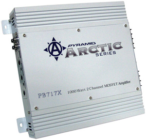Image of PYRAMID PB717X MOSFET Arctic Series Amplifier 1000-Watt; 2-Channel