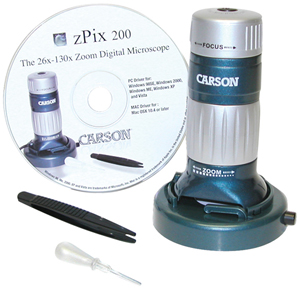 Carson MM740 zPix 200 USB Digital Microscope with 26x130x Optical Zoom