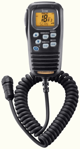 ICOM HM157B-11 Command Mic II Submersible Second Station Remote - Black