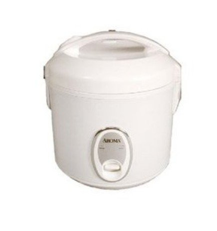Aroma ARC-914S Electronic 4-Cup Dry Rice Cooker - White with Silver Control Panel