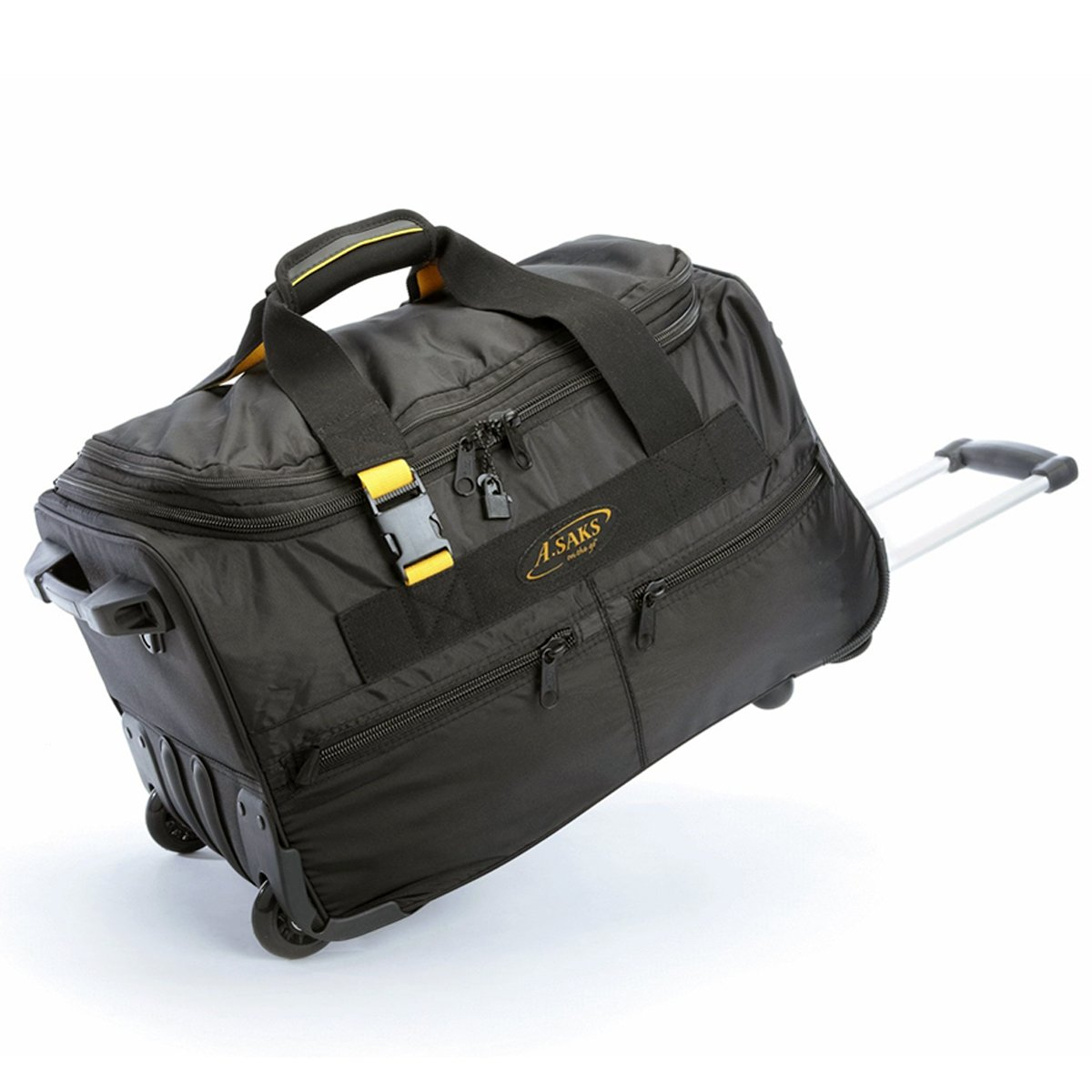 A. Saks AE-20W Expanadable 20 Inch Wheeled Duffel