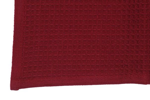 Dunroven House K330-BR Solid Waffle Weave Tea Towel in Bright Red- Pack of 6 DNRV357