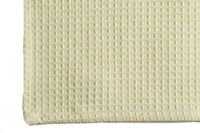 Dunroven House K330-CRE Solid Waffle Weave Tea Towel in Cream