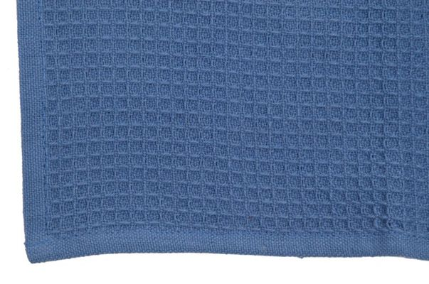 Dunroven House K330-PB Solid Waffle Weave Tea Towel in Provencal Blue- Pack of 6
