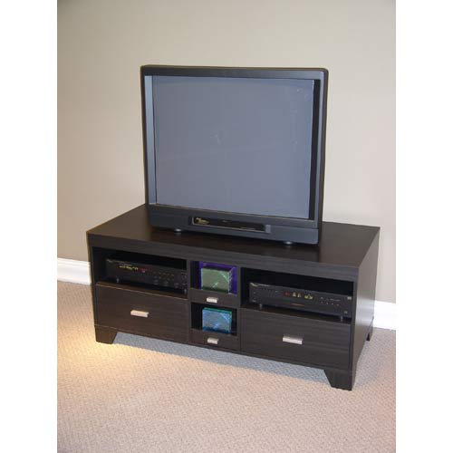 4D Concepts 24706 TV Stand in Black Woodgrain