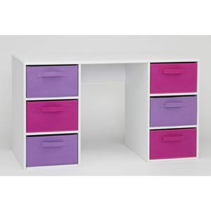 4D Concepts 12434 Girls Student Desk in White