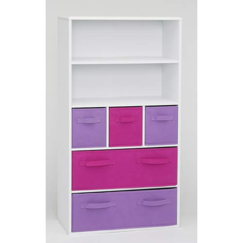4D Concepts 12455 Girls Storage Bookcase in White