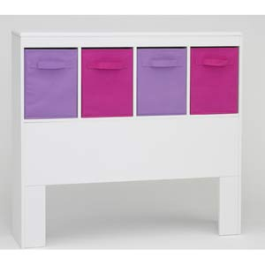 4D Concepts 12401 Girls Headboard in White