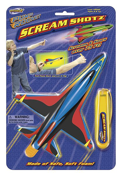 GeoSpace 12921 Scream Shotz 2 Assorted Plane and Launcher Set at Sears.com